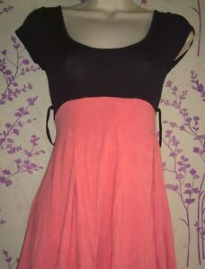 Peach-and-Black-Dress-size-8-perfect-for-spring-summer-and-warm-days