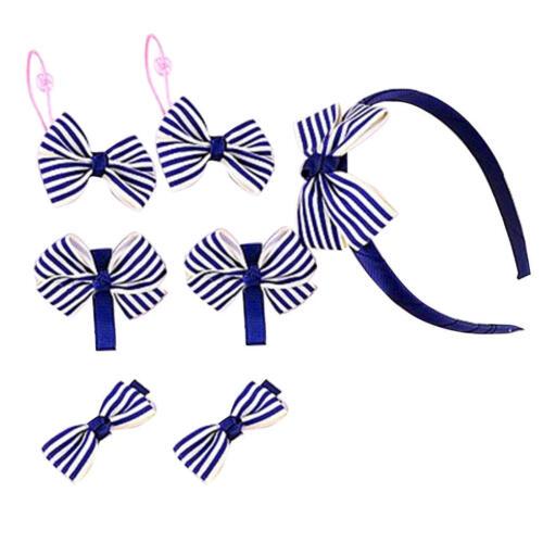 7pcs//Set Baby Girls Elastic Rubber Hair Ties Band Rope Ponytail Holder Hair Clip