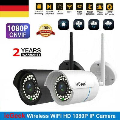 ieGeek IP Netzwerk Camera Außen Überwachungskamera Outdoor 1080P CCTV Funk Wlan