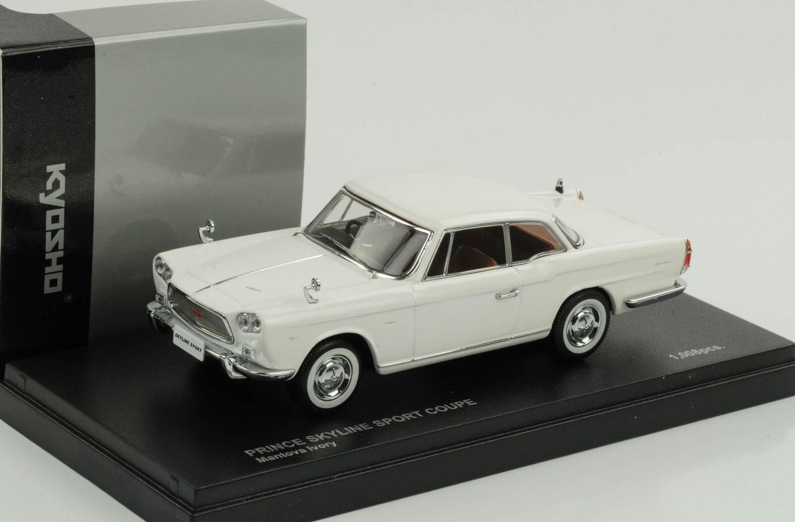 Nissan Prince Skyline Sport Coupé white 1 43 Kyosho Diecast