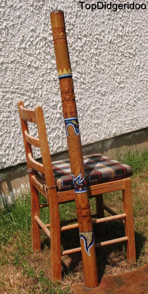 47  \ 120cm Aborigène Didgeridoo Tortue Sculpté à la Main Dot-Peint Art + + Sac