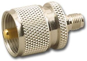 PL-259-TO-SMA-Female-Coaxial-Adapter-For-Ham-RAdio-and-Communications-USA-Made