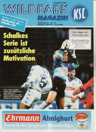 FC Schalke 04 BL 92//93 Karlsruher SC