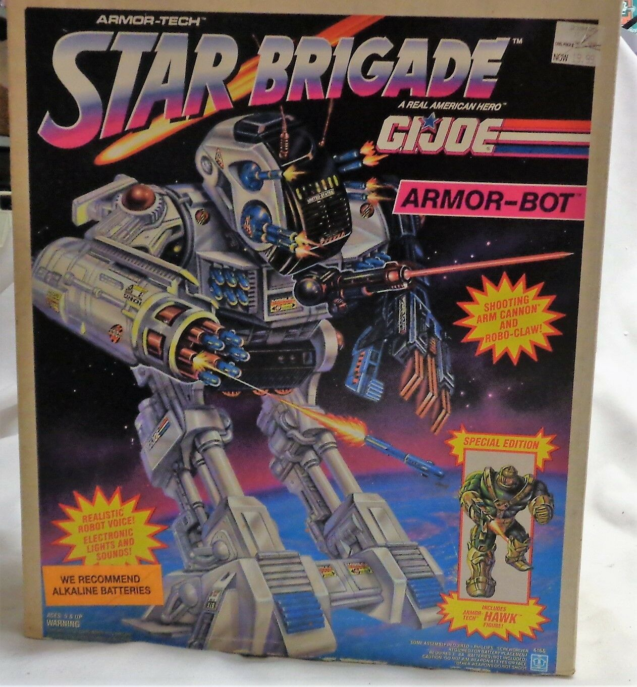 1993 Hasbro GI Joe Star Brigade Armor Bot Boxed Sealed MISB Hawk Figure FREESHIP