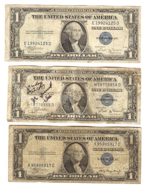 1935 Silver Certificate One Dollar Note Ebay