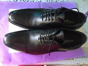 Paire de chaussures cuir noir Homme T44
