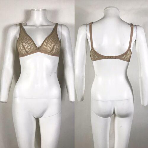 Rare Vtg Christian Dior Nude Sheer Trotter Monogra