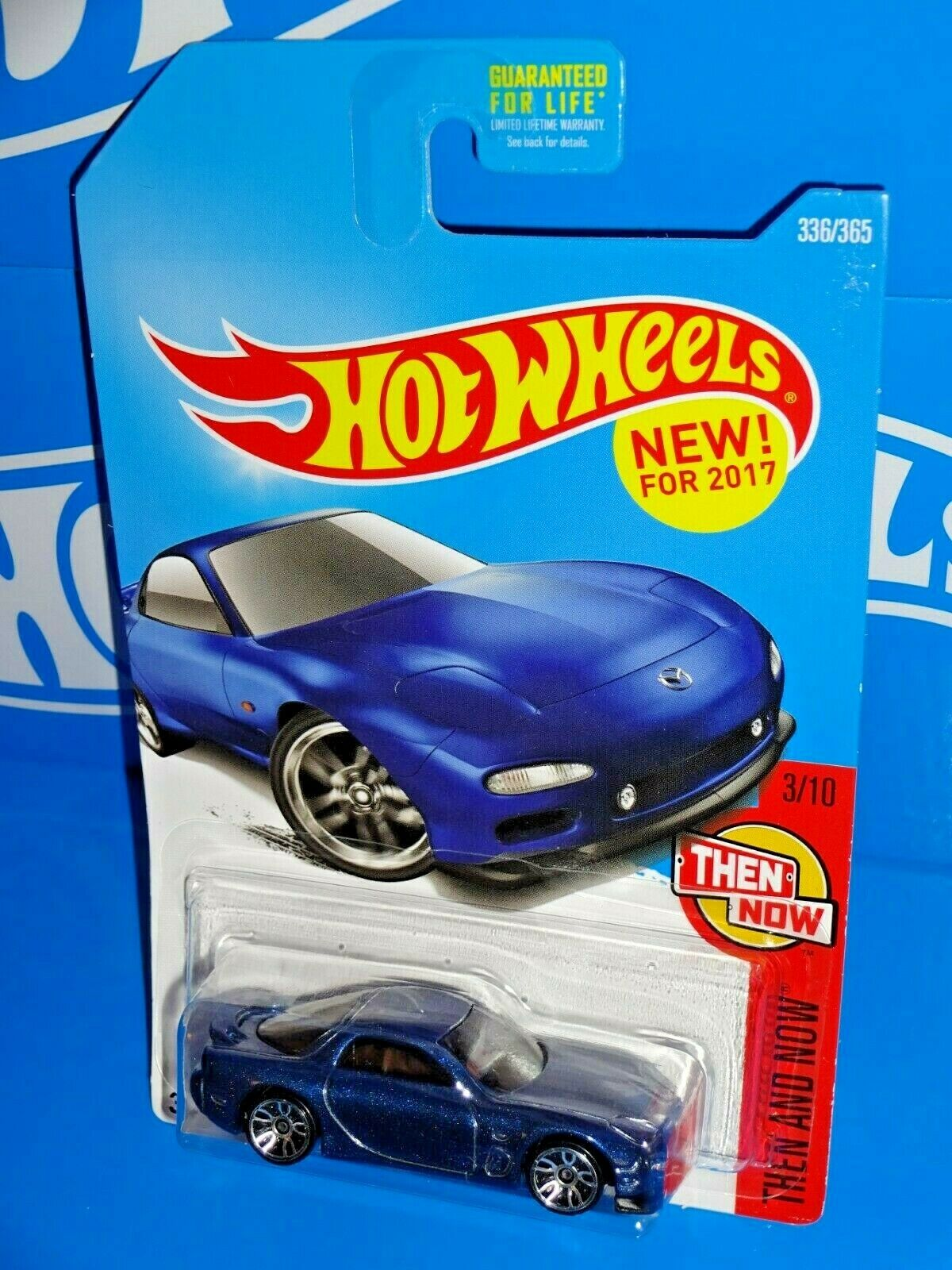 Blue Hot Wheels 2017 Then and Now 95 Mazda RX-7 336//365