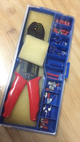 Crimping Tool Set with Assorted Insulation Terminals-Brand New