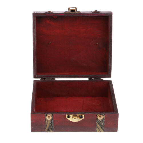 Antique Vintage Style Wooden Jewelry Box Earring Necklace Ring Storage Box