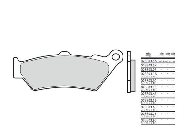 Triumph Speed Triple 1050 - Kit Plaquettes De Frein Avant - Brembo - 38800219