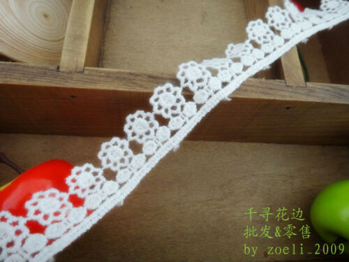 White small flower lace trim ribbon with amazing design price for 1 yard