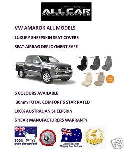 Sheepskin-Car-Seatcovers-VW-Amarok-Seat-Airbag-Safe-30mm-TC-Five-Colours