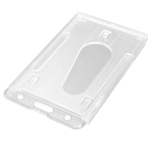 Vinyl Plastic ID Card Cover rty Vertical Transparent Clear ID Card Badge Holder