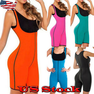 9ed13f4a0e Women Sauna Suit Full Body Shaper Ultra Sweat Weight Loss Fitness ...