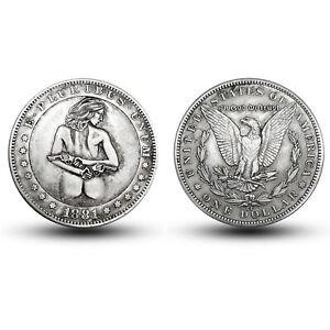 1881-American-Morgan-Double-Gun-Girl-Antique-Commemorative-Coin-Collection