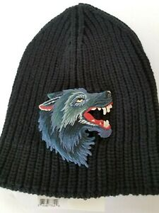 45a06a4e5b4 Image is loading New-Authentic-Gucci-Wool-Hat-w-Wolf-Beanie-