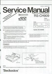 100% QualitäT Technics Original Service Schaltplan Für Rs-ch 909 Im Supplement FöRderung Der Produktion Von KöRperflüSsigkeit Und Speichel