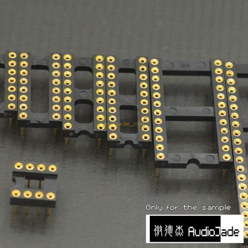 AudioJade 8P 14P 16P 18P 20P 24P 40P 1U DIP IC Sockets 8P 3U Gold Round PINS