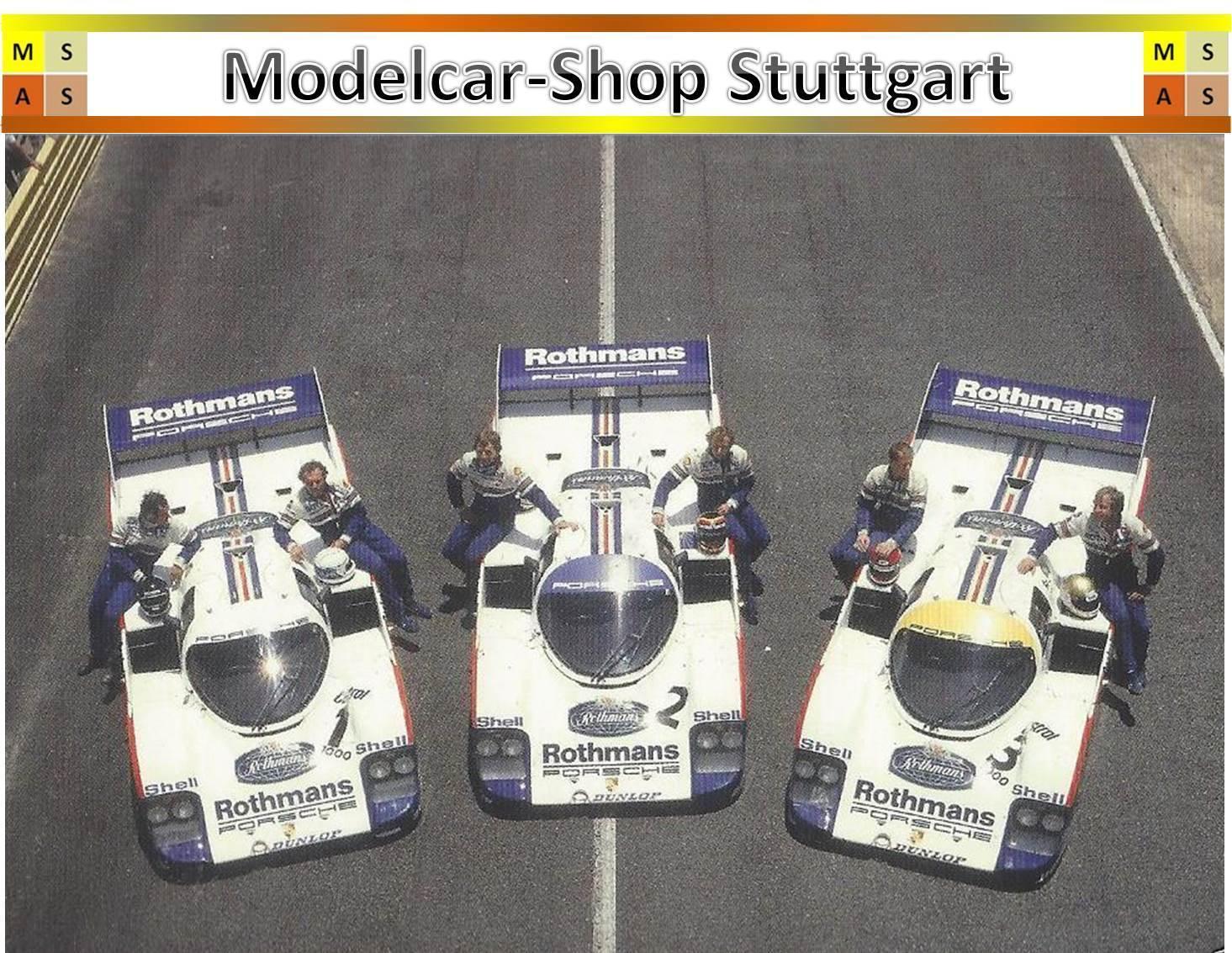 Porsche 956 Le Mans set rougehmans Ltd. musée Edition 1000 Brekina 1 87 NEUF