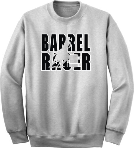 Barrel Racer Horse and Rider Sweatshirt Multiple Colors /& Sizes
