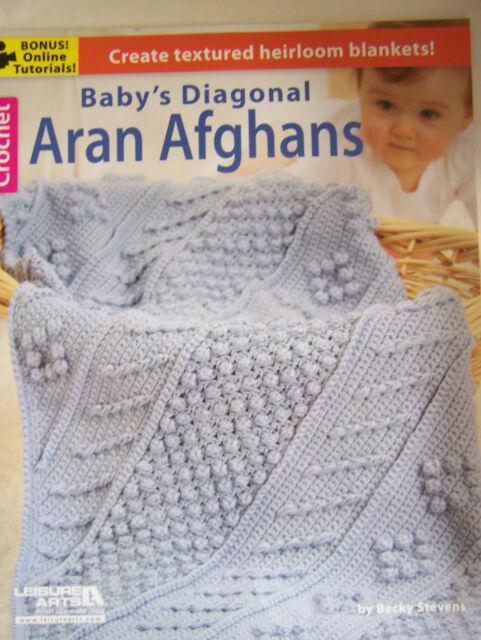 Crochet Baby's Diagonal Aran Afghans