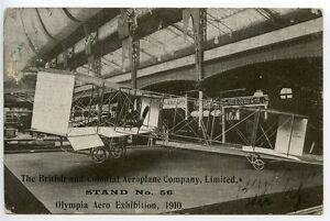 GREAT-BRITAIN-1910-Pioneer-Air-Card-Olympia-Aero-Exhibition-to-Eccles