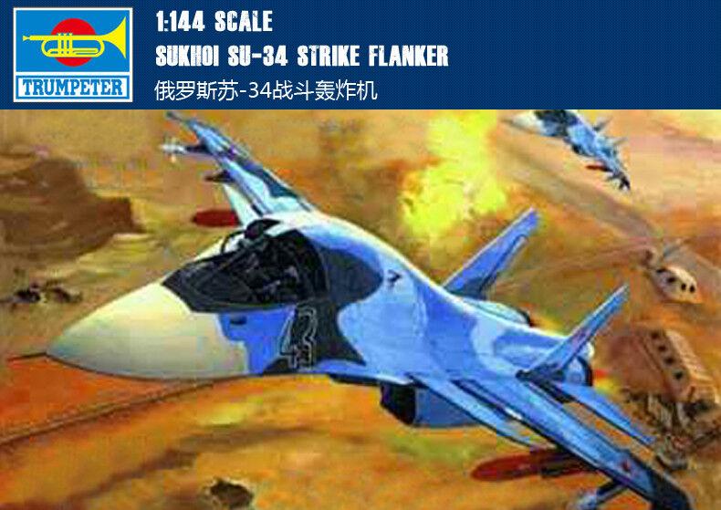 Trumpeter01329 1 144 Static Model Russian SU-34 Bomber Airplane Fighter Warplane