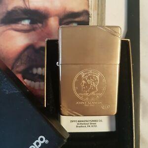 Mechero-Zippo-John-F-Kennedy-New-collectable-Rare-Vintage-Brush-Brass-FT