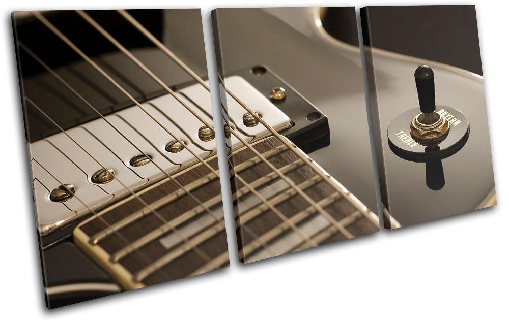 Guitar INSTRUMENTS INSTRUMENTS INSTRUMENTS Musical TREBLE TELA parete arte foto stampa d640a3