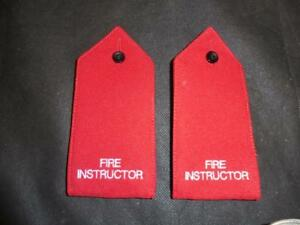 Brigade Manager Fire /& Rescue Officer/'s Epaulettes Rank Slides