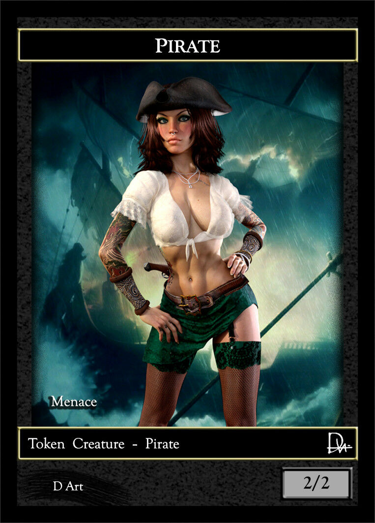 3 x Pirate MTG Custom Made Altered Token A