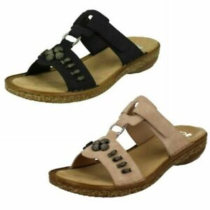 Details about Womens Rieker Open Toe Sandals 62891
