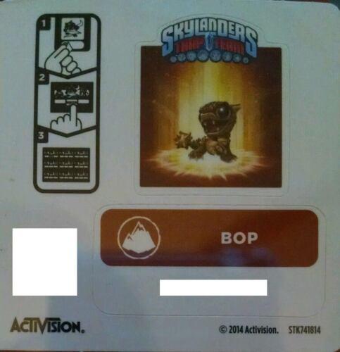 Bop Skylanders Trap Team Sticker Code Only!