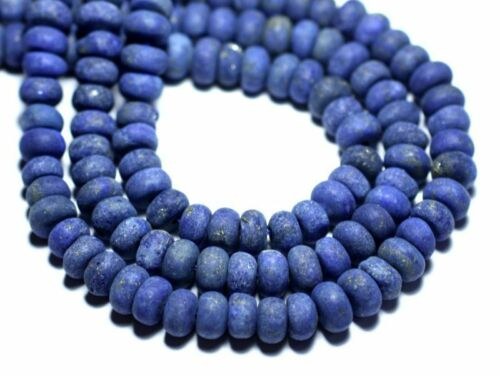 Lapis Lazuli Mat Givré Rondelles 8x5mm 10pc 8741140007840 Perles de Pierre