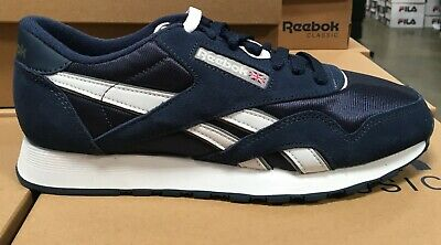 Details about Reebok CLASSIC NYLON Men Running Shoes 39749 Team NavyPlatinum Fast Shipping SL