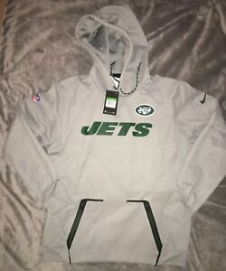 e20c65ad58cf NIKE New York Jets Gray Vapor Speed Fleece Pullover Hoodie Size ...