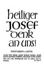 """PSALM  unbeschrieben """"H8022"""" Heiliger Josef dank an uns"""