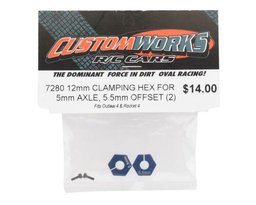 +5.5mm Offset CSW7280 2 Custom Works 12mm Outlaw 4 Clamping Hex 5mm Axle