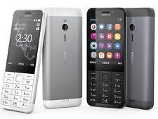 Nuovo di Zecca Nokia 230 ** ** Dual SIM sbloccato telefono cellulare-DARK SILVER ORIGINALE