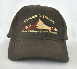 ebfa08088 Details about *GLACIAL DISTILLING ALPINE WHISKEYS MONTANA* Waterproof Ball  cap hat embroidered