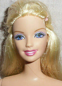 Blonde Haired Purple Eyed Nude Barbie Doll 4 OOAK or Play E1140