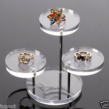 Acrylic Jewelry Display Stand Earring Necklace Ring Organizer Display Shelf New