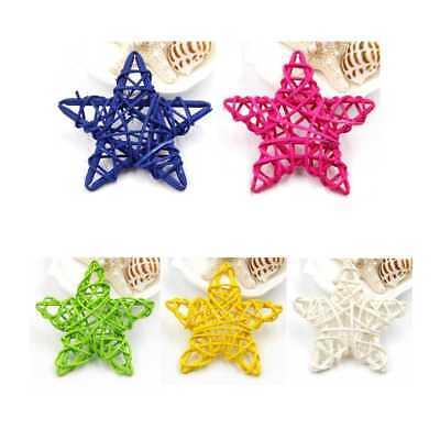 Decorations Ornaments Christmas//Birthday/&Home DIY Rattan Star Lovely 5PCS 6CM