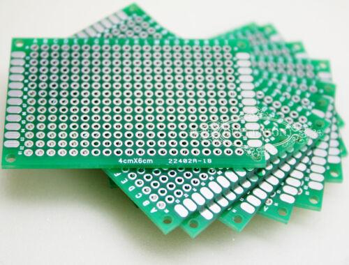 30Pcs 4cmx6cm Double-Sided Protoboard Breadboard PCB Universal Circuit  Board