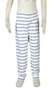 JACADI-Girls-Lerote-White-And-Grey-Striped-Leggings-Size-6-Years-NWT-44