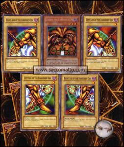 YUGIOH-COMPLETO-EXODIA-il-Proibito-Set-5-Carte-Divinita-COMPLETE-5-CARDS-NM