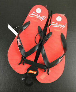 aae0e67ce57e Budweiser Adult Flip Flops Small 7 8 Beer NWT Red Black Straps Logo ...