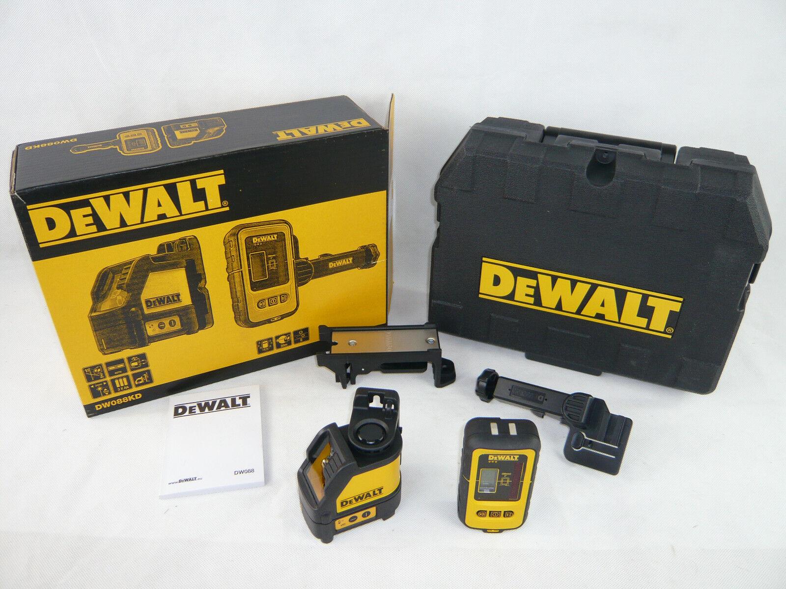 DeWalt DW088KD Kreuzlinien Laser + DE0892 Detektor im Koffer DW088 K D Laser