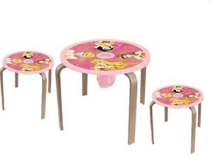 Disney Princess Tisch Mit 2 Hocker Stühle Tischgruppe Kindermöbel